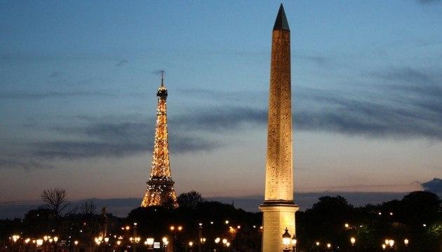 Obélisque Paris Concorde et Tour Eiffel