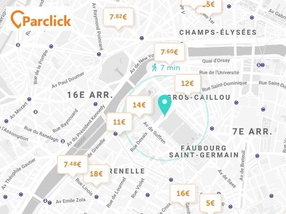 Parking Tour Eiffel Paris