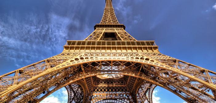 La structure de la Tour Eiffel Paris