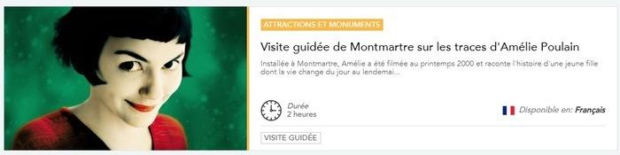Réservez votre visite de Montmartre dans les pas d'Amélie Poulain