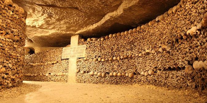 Les catacombes de Paris dans le 14ème arrondissement