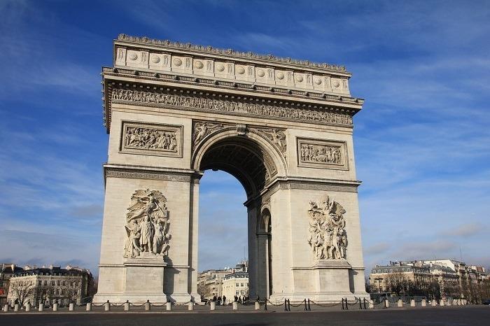 contempler la vue depuis l'Arc de Triomphe
