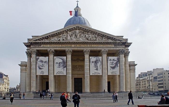 Le Panthéon dans le 5ème arrondissement de Paris