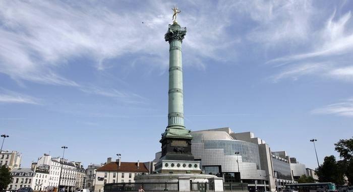 Place de la Bastille dasn le 11ème arrondissement