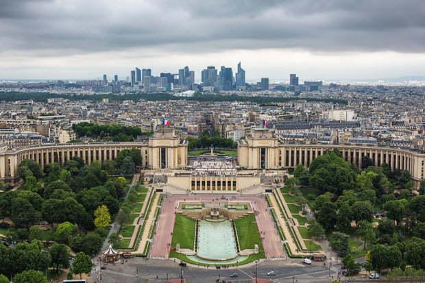 Vue de Paris depuis le sommet de la Tour Eiffel
