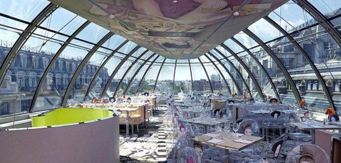Vue de Paris dupuis le Restaurant Kong