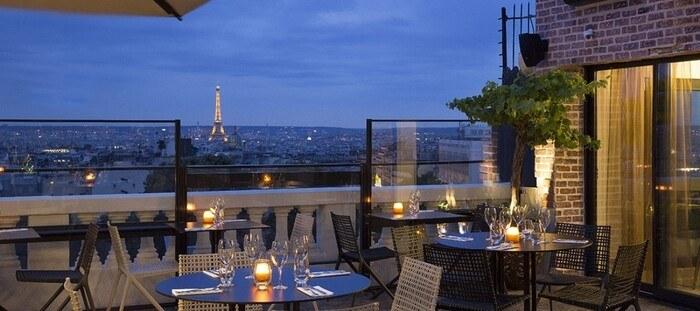 Vue de Paris depuis le rooftop du Terass Hotel